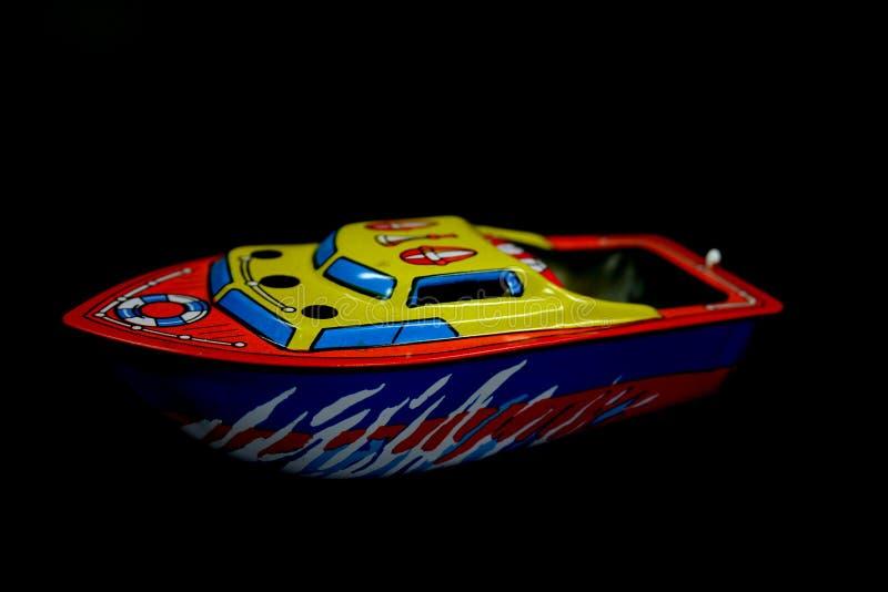 Barco del diesel del juguete imágenes de archivo libres de regalías