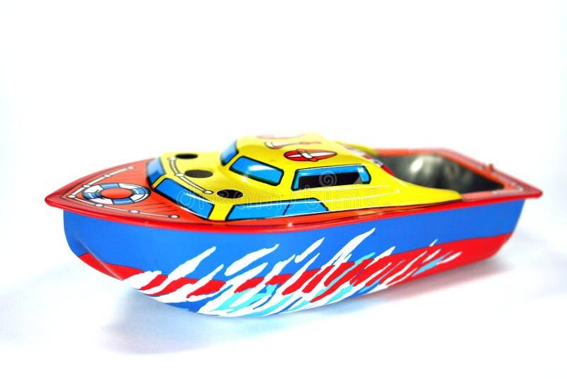 Barco del diesel del juguete imagen de archivo