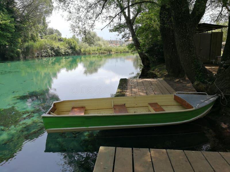 Barco del parque foto de archivo