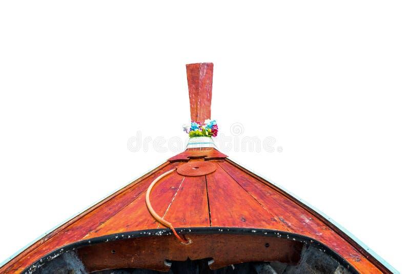 Barco delantero del longtail en fondo fotografía de archivo