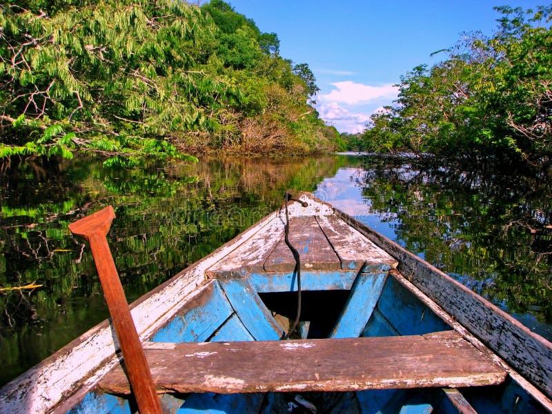 Barco do Amazonas fotografia de stock