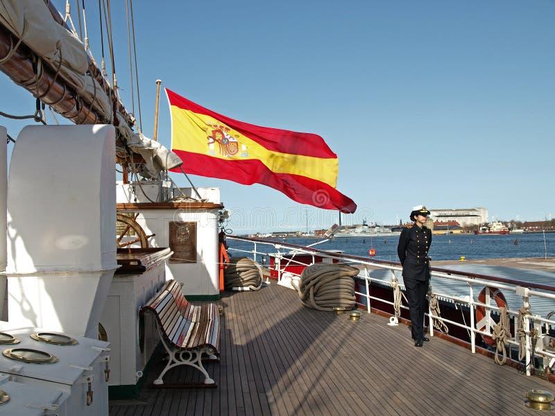 Barco do Armada espanhol fotografia de stock