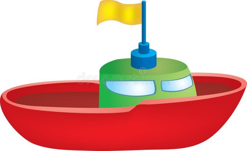 Barco do brinquedo ilustração royalty free