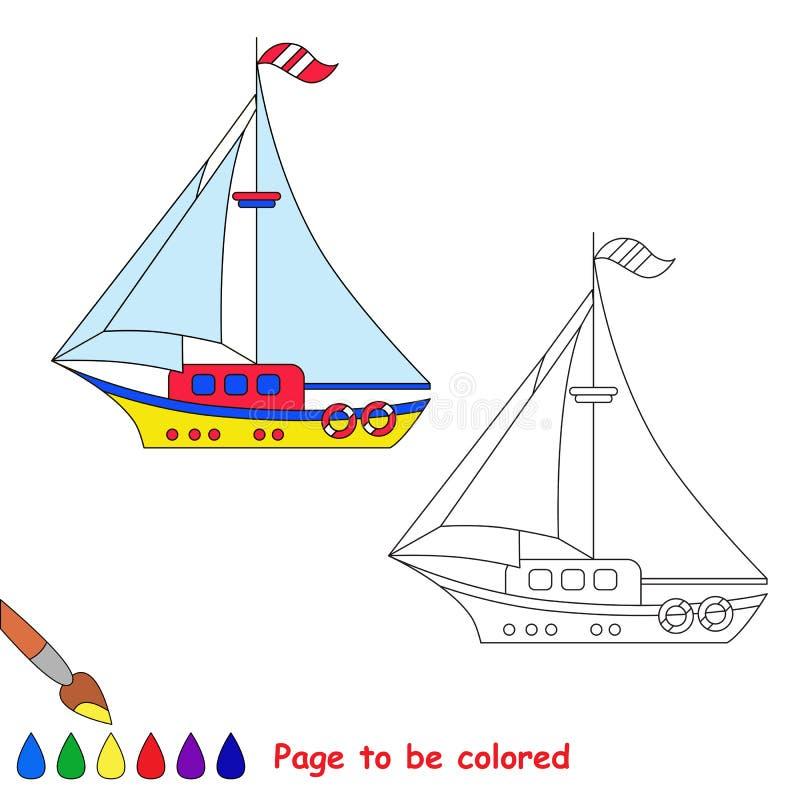 Barco do brinquedo dos desenhos animados do vetor a ser colorido ilustração do vetor