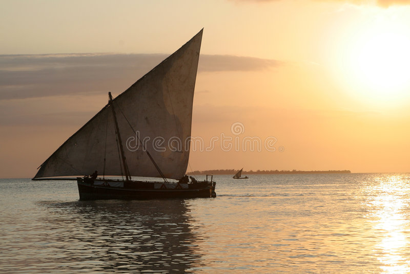 Barco do Dhow foto de stock