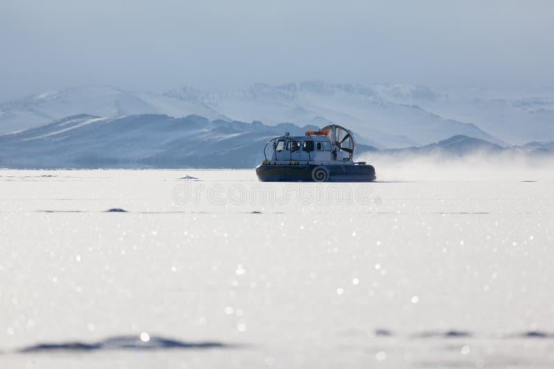 Barco do movimento de ar da neve foto de stock royalty free