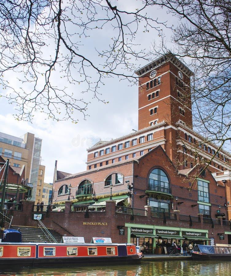 Barco do networkwith do canal da água de Birmingham imagens de stock