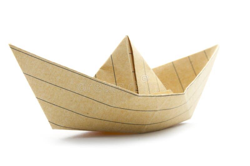Barco do origâmi imagem de stock