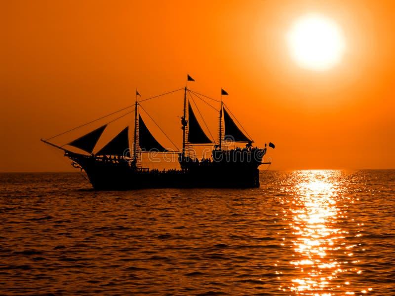 Barco do pirata fotografia de stock