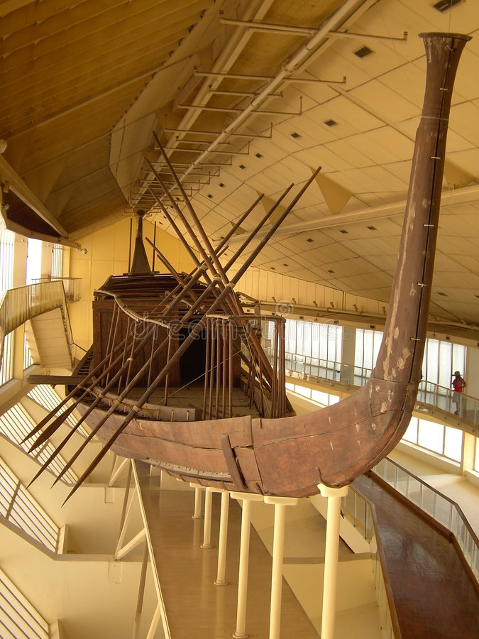 Barco do sol de Khufu fotos de stock royalty free