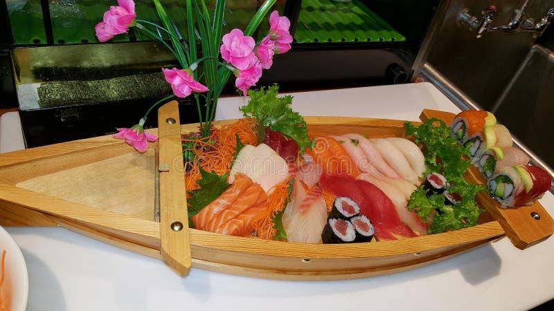 Barco do sushi imagem de stock royalty free