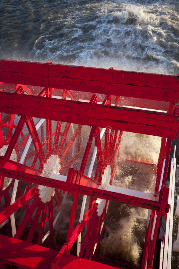 Barco do vapor da roda de pá foto de stock