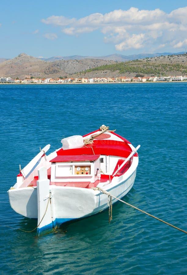 Barco e mar, greece imagem de stock royalty free
