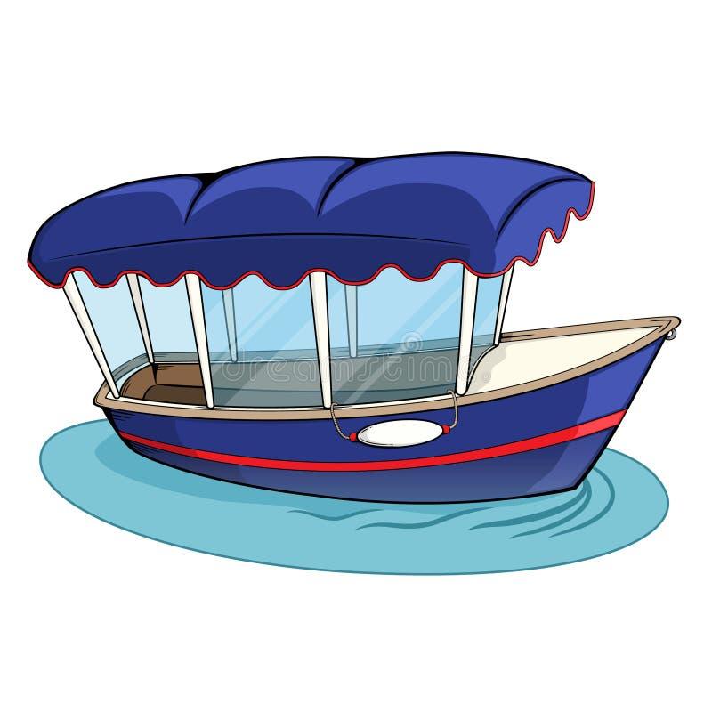 Barco eléctrico de Duffy ilustración del vector