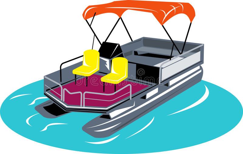 Barco el pontón ilustración del vector