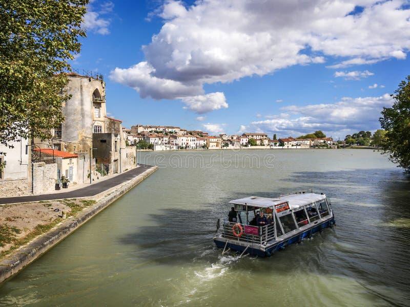 Barco em Canal du Midi imagens de stock royalty free