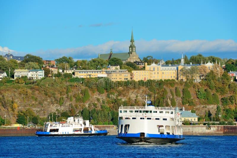 Barco em Cidade de Quebec fotografia de stock royalty free