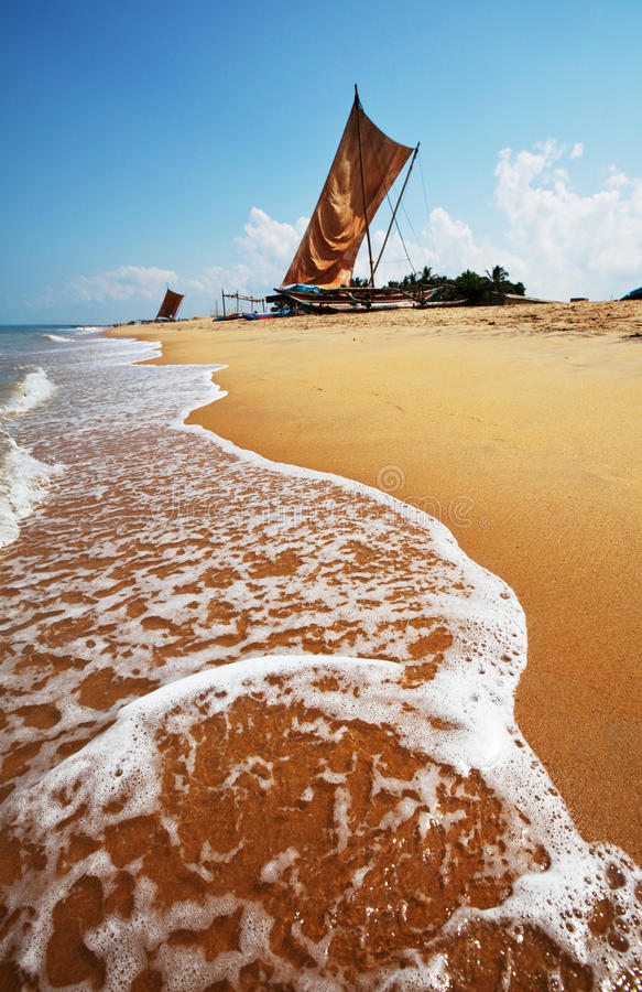 Barco em Sri Lanka fotografia de stock