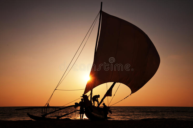 Barco em Sri Lanka imagens de stock royalty free