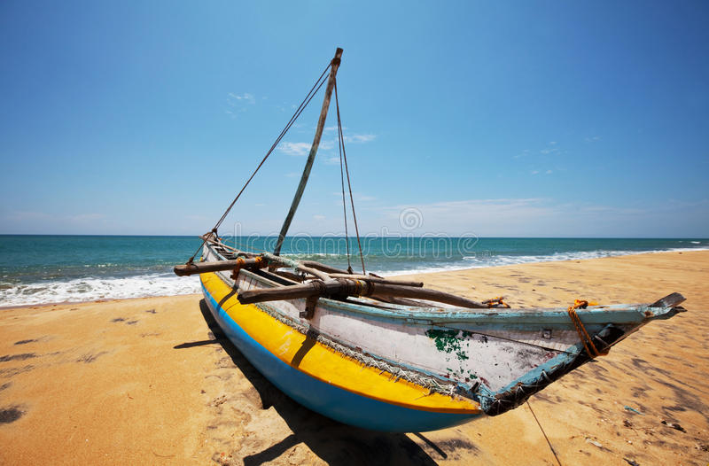Barco em Sri Lanka imagem de stock