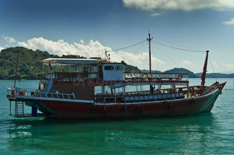 Barco em Tailândia fotografia de stock
