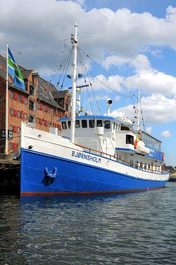 Barco en Copenhague, Copenhague, Dinamarca fotografía de archivo libre de regalías
