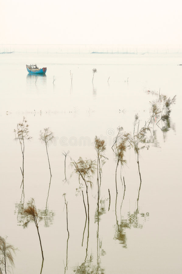 Barco en descanso imagen de archivo