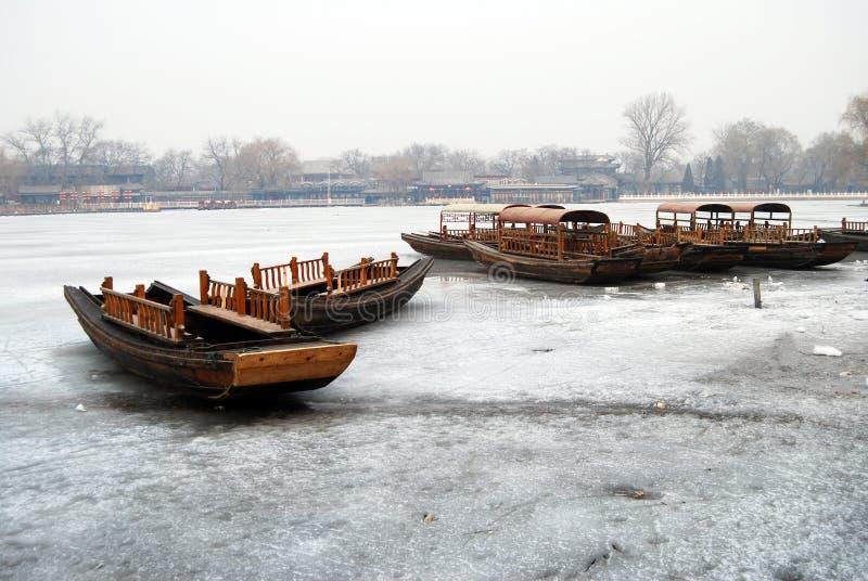 Barco En El Hielo Arriba Foto de archivo