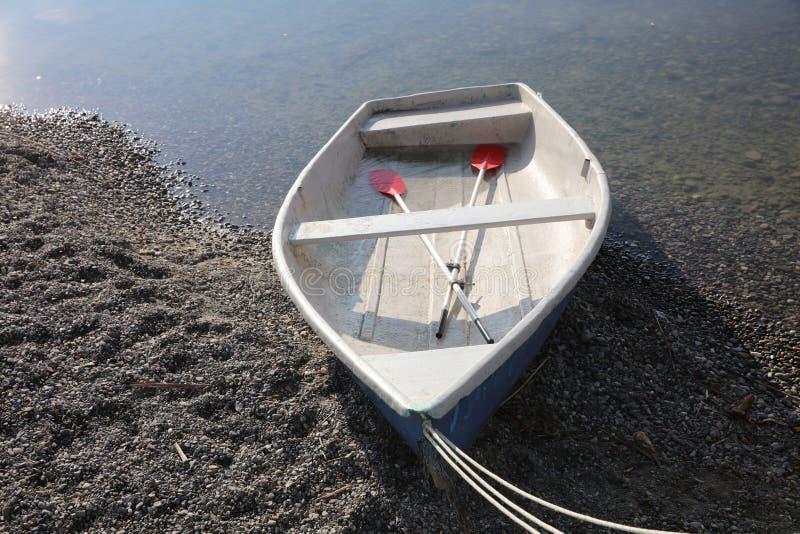 Barco en el lago de Constanza en Radolfzell imágenes de archivo libres de regalías