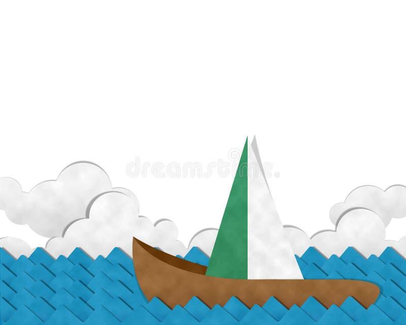 Barco en el mar ilustración del vector