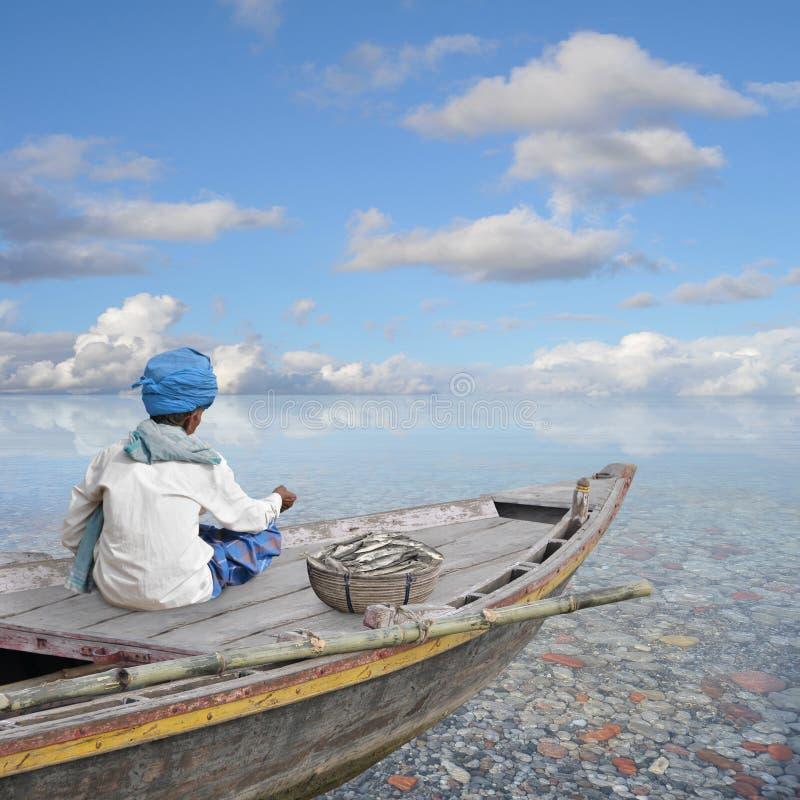 Barco en el paraíso imagenes de archivo