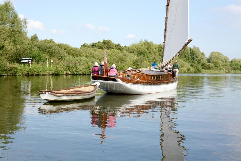 Barco en Norfolk Broads fotografía de archivo libre de regalías