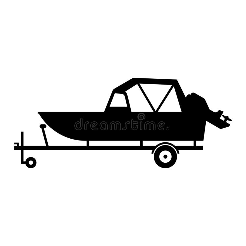 Barco en un acoplado ilustración del vector