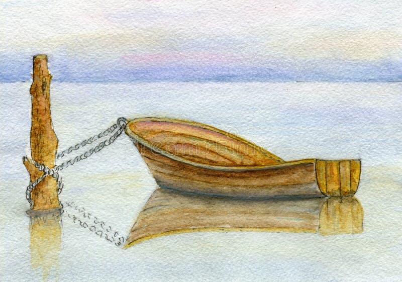 Barco entrado no raso imagem de stock