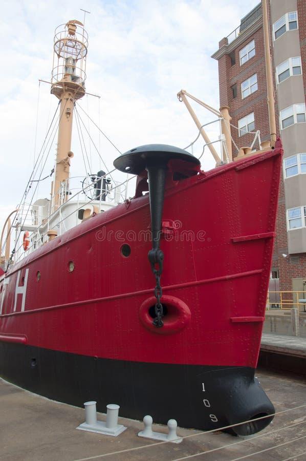 Barco-farol Portsmouth de Estados Unidos (LV-101) fotografia de stock royalty free