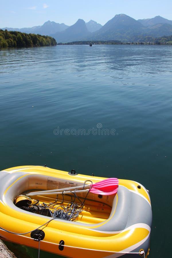 Barco inflable fotos de archivo