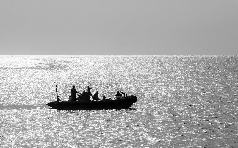 Barco inflable de infantes de marina foto de archivo