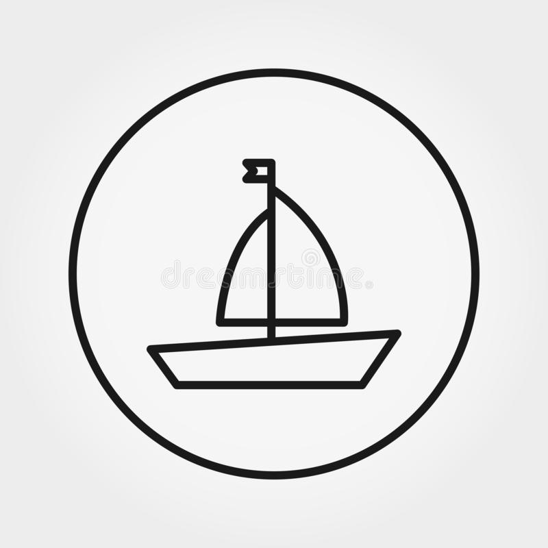 Barco juguete Icono universal Vector Línea fina Editable stock de ilustración