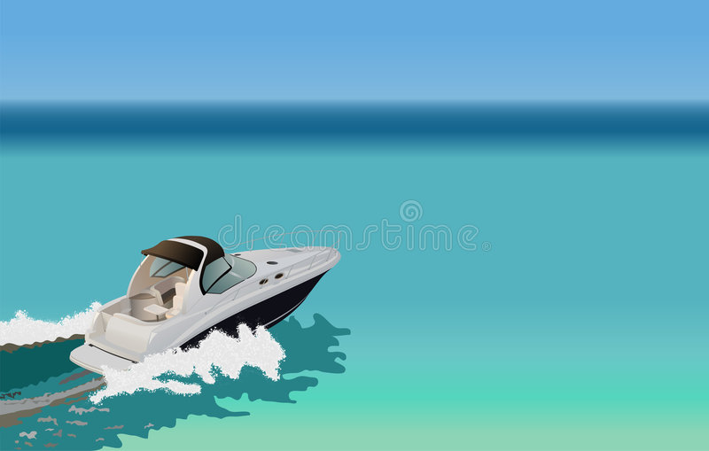 Barco luxuoso ilustração do vetor