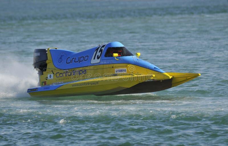 Barco magnífico de la velocidad de Prix Portugal foto de archivo