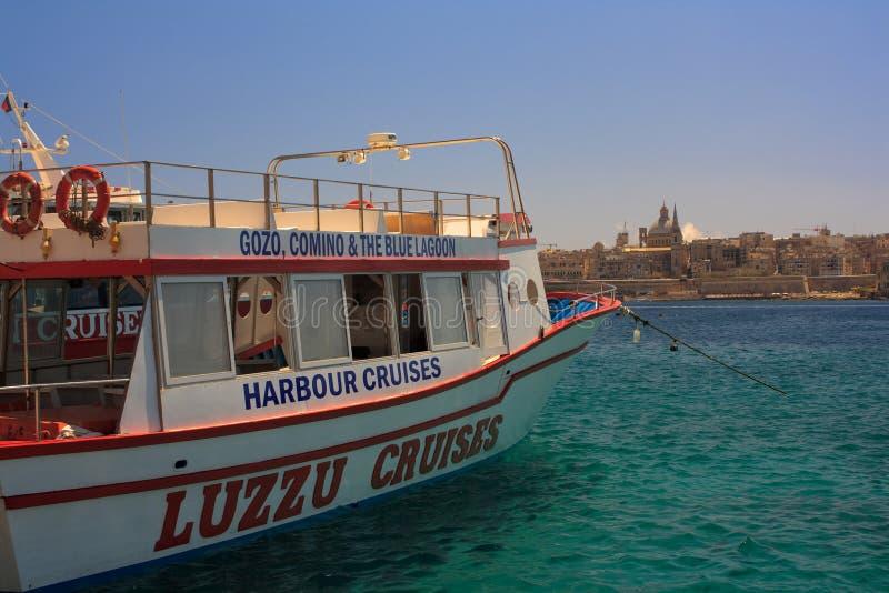 Barco Malta de la travesía foto de archivo libre de regalías
