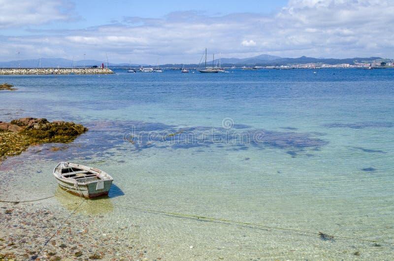 Barco Mars för fartyg för Galicia nolla-dunge hav royaltyfri fotografi