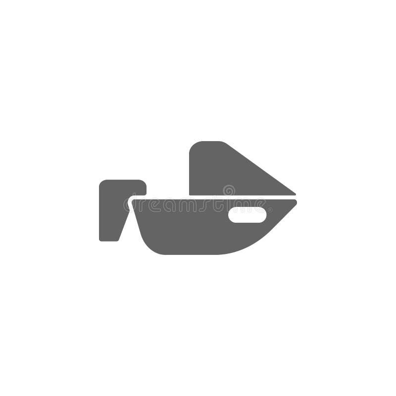 Barco, motor, ícone da velocidade Elemento do ?cone simples do transporte ?cone superior do projeto gr?fico da qualidade Sinais e ilustração stock
