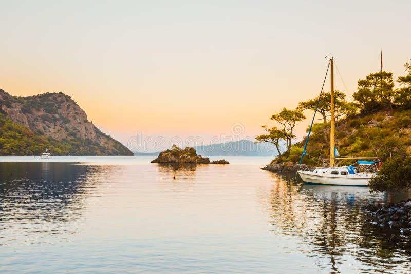 Barco no Mar Egeu Bodrum Mugla, Turquia imagens de stock royalty free