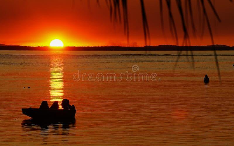 Barco 1770 no por do sol fotos de stock royalty free