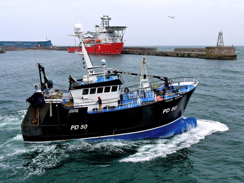 Barco pesquero 'Sceptre de oro 'PD50 fotos de archivo libres de regalías