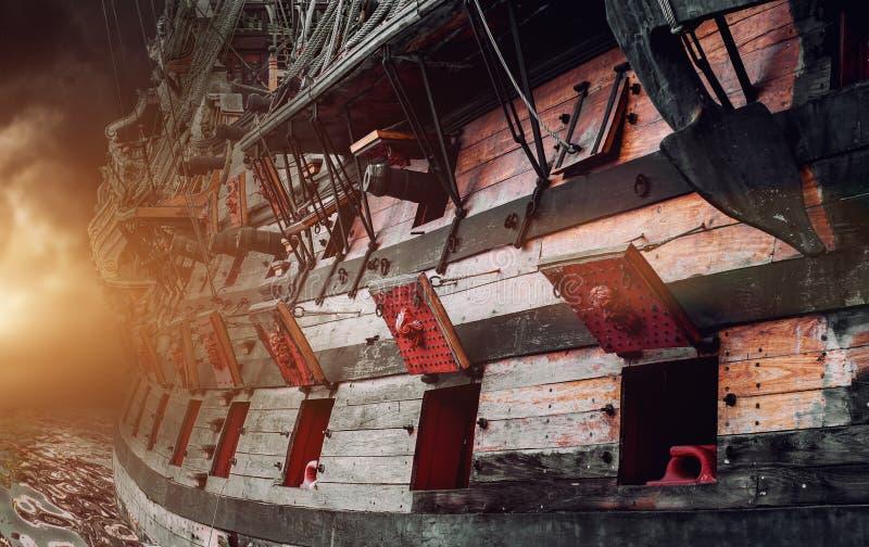 Barco pirata imagen de archivo libre de regalías