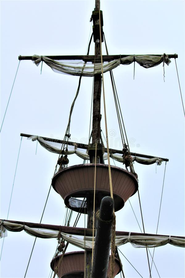 Barco pirata temido imagen de archivo