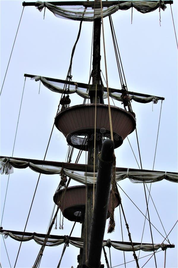 Barco pirata temido fotografía de archivo