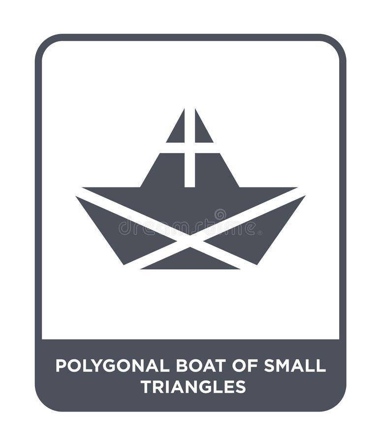 barco poligonal del pequeño icono de los triángulos en estilo de moda del diseño barco poligonal del pequeño icono de los triángu libre illustration